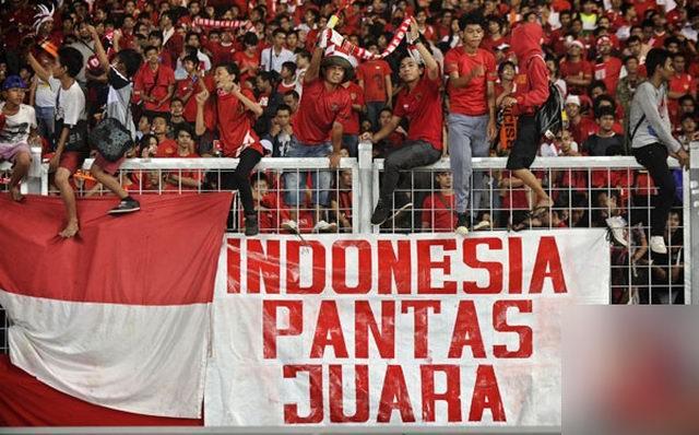 Aksi Bela Timnas, perbedaan menyatukan kita untuk Indonesia menjadi Juara