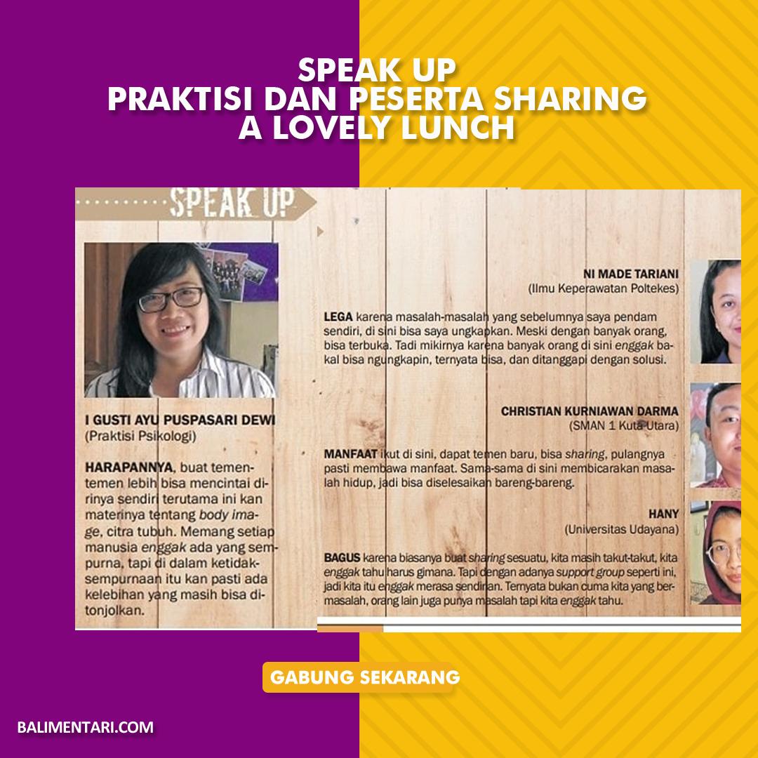 Mengapa remaja penting untuk mengikuti kegiatan A Lovely Lunch